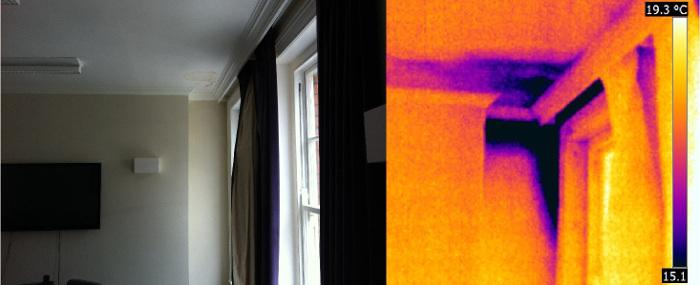 Тепловизионное обследование в квартире
